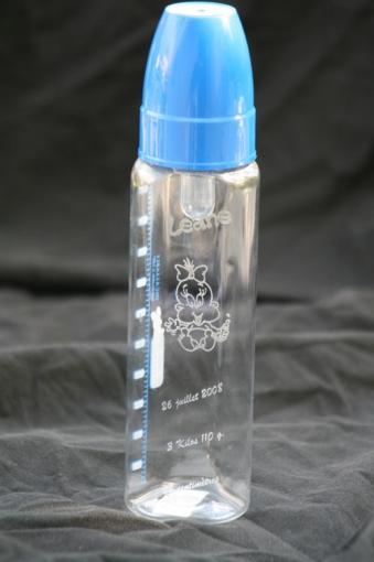 biberon en verre imprimé - le cadeau pour bébé
