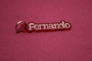 Porte clé prénom personnalisé en plexiglas