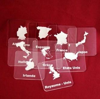 Lot de 6 sous verre personnalisé en plexiglas :