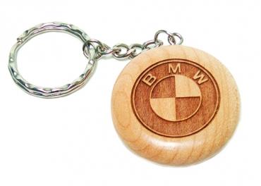 Porte clé en bois rond personnalisable par gravure
