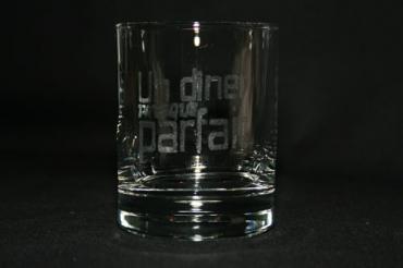 Service de 6 verres à Whisky gravés