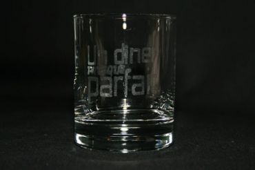 verre  à whisky gravés