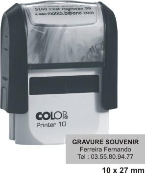 tampon encreur COLOP Printer 10 - 3 lignes