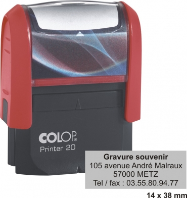 tampon encreur COLOP Printer 20 - 4 lignes