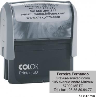 tampon encreur COLOP Printer 50 - 7 lignes