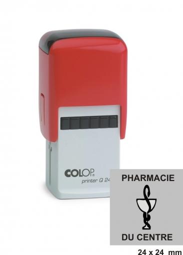 tampon carré COLOP Printer Q 24 - 6 lignes