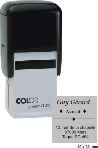 tampon carré COLOP Printer Q 30 - 7 lignes