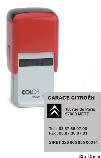 tampon carré COLOP Printer Q 43 - 10 lignes