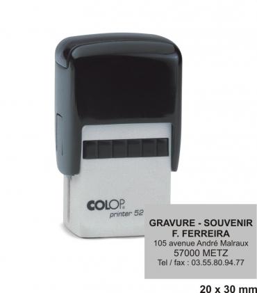 Tampon encreur COLOP Printer 52 - 5 lignes