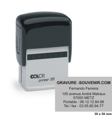 Tampon encreur COLOP Printer 35 - 7 lignes