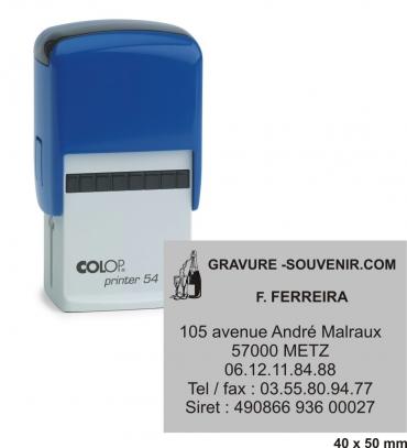 Tampon encreur COLOP Printer 54 - 8 lignes