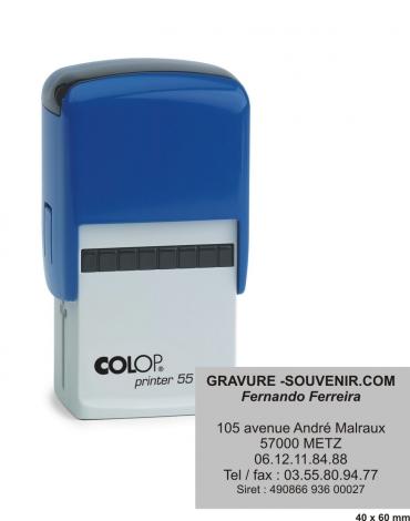 Tampon encreur COLOP Printer 55 - 8 lignes
