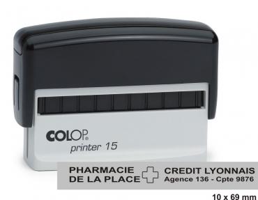 Tampon COLOP Printer 15 - 3 lignes