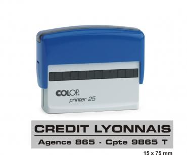 Tampon COLOP Printer 25 - 4 lignes