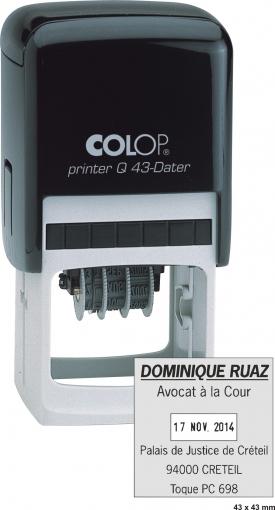 Tampon COLOP Q43 Dateur - 9 lignes