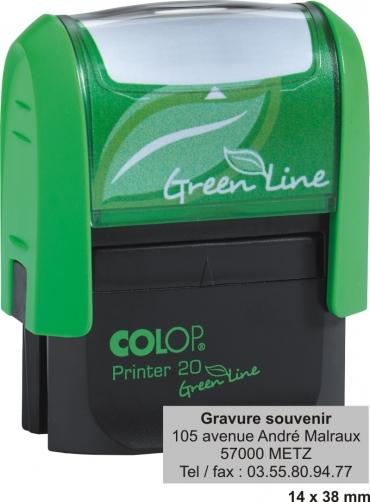 Tampon écologique COLOP Printer 20 GL - 4 lignes