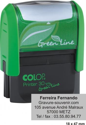 Tampon écologique COLOP Printer 30 GL - 5 lignes