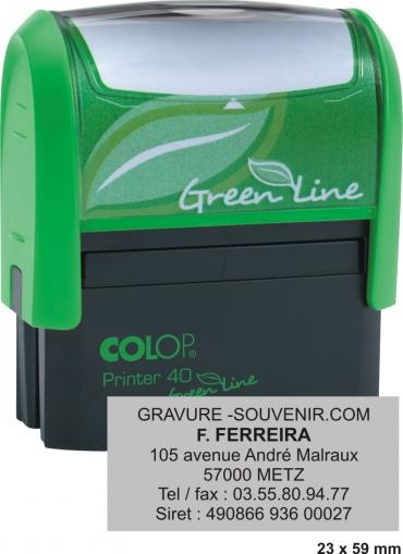 Tampon écologique COLOP Printer 40 GL - 6 lignes