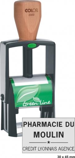 Tampon écologique COLOP Printer 2300 GL - 7 lignes
