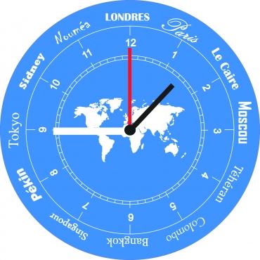 Horloge originale personnalisée et gravée : monde