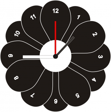 Horloge originale personnalisée et gravée : marguerite