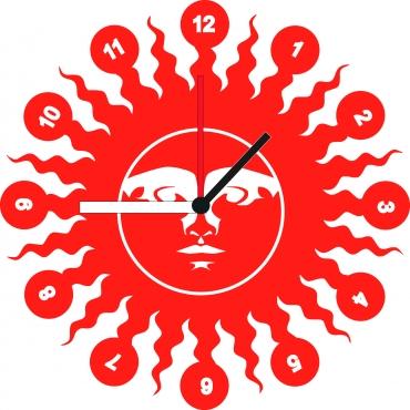 Horloge originale personnalisée et gravée : soleil