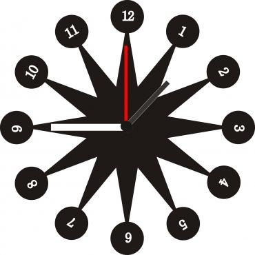 Horloge originale personnalisée et gravée : soleil design