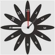 Horloge originale personnalisée et gravée : marguerite 2