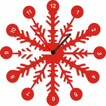 Horloge originale personnalisée et gravée : flocon de neige
