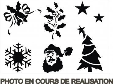 Pochoir de Noël 2 - pochoir en carton pour décorer vos fenêtres