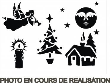Pochoir de Noël 3 - pochoir en carton pour décorer vos fenêtres
