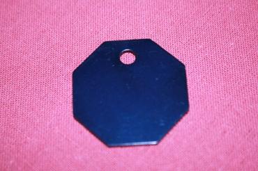 médaille octogone gravée pour animaux