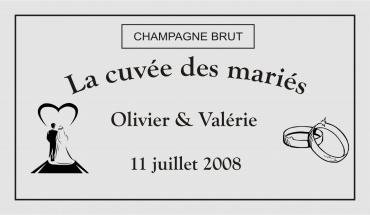 étiquette de bouteille originale personnalisée pour mariage 3