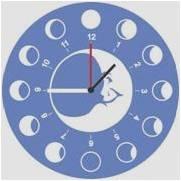 horloge en plexi gravée et personnalisé : lune