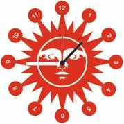 horloge en plexi gravée et personnalisé : soleil 2