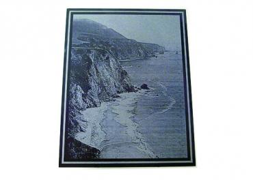 photo gravée sur granit noir rectangle de 12.7 cm x 17.7 cm