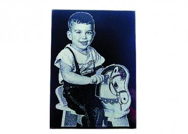 photo gravée sur granit noir rectangle de 21,6 cm x 27,9 cm