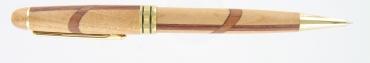 stylo bille en bois de marquerie haut de gamme  gravé et personnalisé