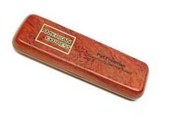 écrin pour stylo en bois de rose pour 1 stylo gravé et personnalisé