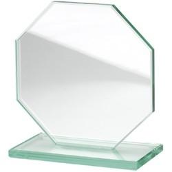 trophées octogone en verre 200 x 200 mm