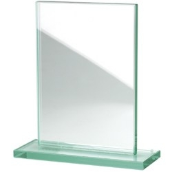 trophée rectangle en verre 200 * 150 mm