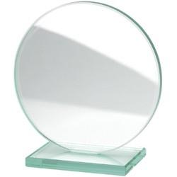trophée rond en verre 200 x 200 mm