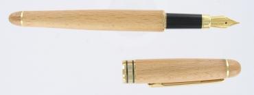 stylo plume en bois de hêtre gravé et personnalisé