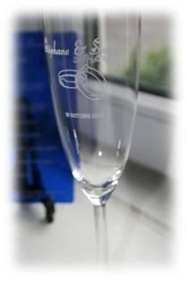 Flùte a Champagne gravée et personnalisée pour cadeau de fin d'année