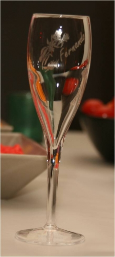 Flûte a Champagne luxe marque place gravée et personnalisée pour mariage