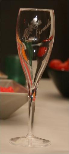 Flùte a Champagne luxe gravée et personnalisée pour cadeaux de fin d'année