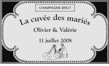 etiquette de bouteille mariage orientale1 gravée et personnalisé de couleur or ou argent