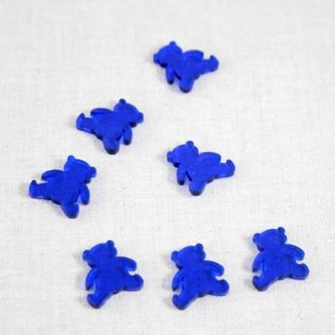 décoration de table oursons en plexiglas bleu 2 cm (sachet de 20 pièces)