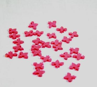 décoration de table - sachet de Fleur de Lys en plexiglas rouge