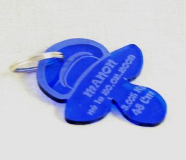 porte clefs naissance tétine en plexiglas de couleur